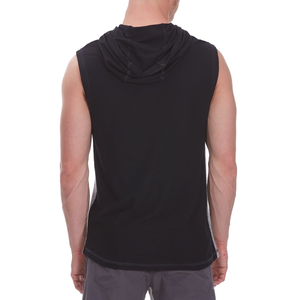 DISTORTION Guys' Hooded Muscle Cross-Neck Top - CREAM