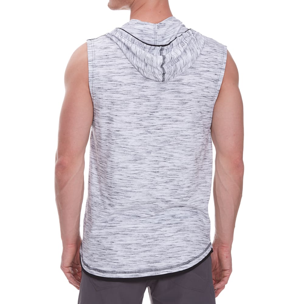 DISTORTION Guys' Hooded Muscle Pocket Top - WHITE