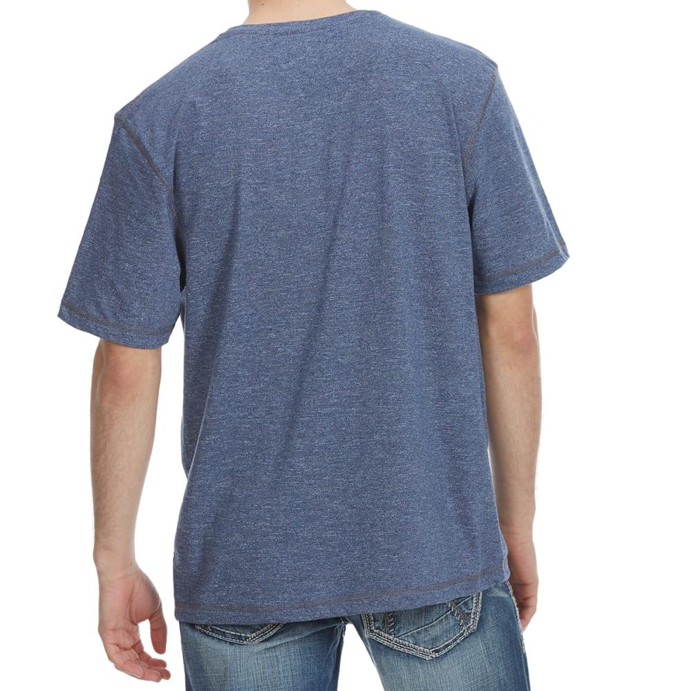 DISTORTION Guys' Mock Twist V-Neck Short-Sleeve Tee - TWILIGHT