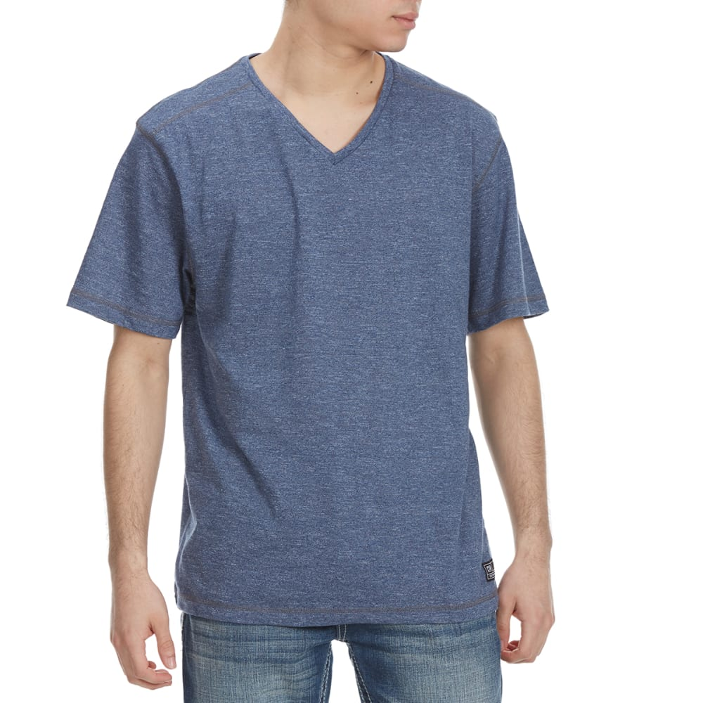 Distortion Guys Mock Twist V-Neck Short-Sleeve Tee - Blue, S