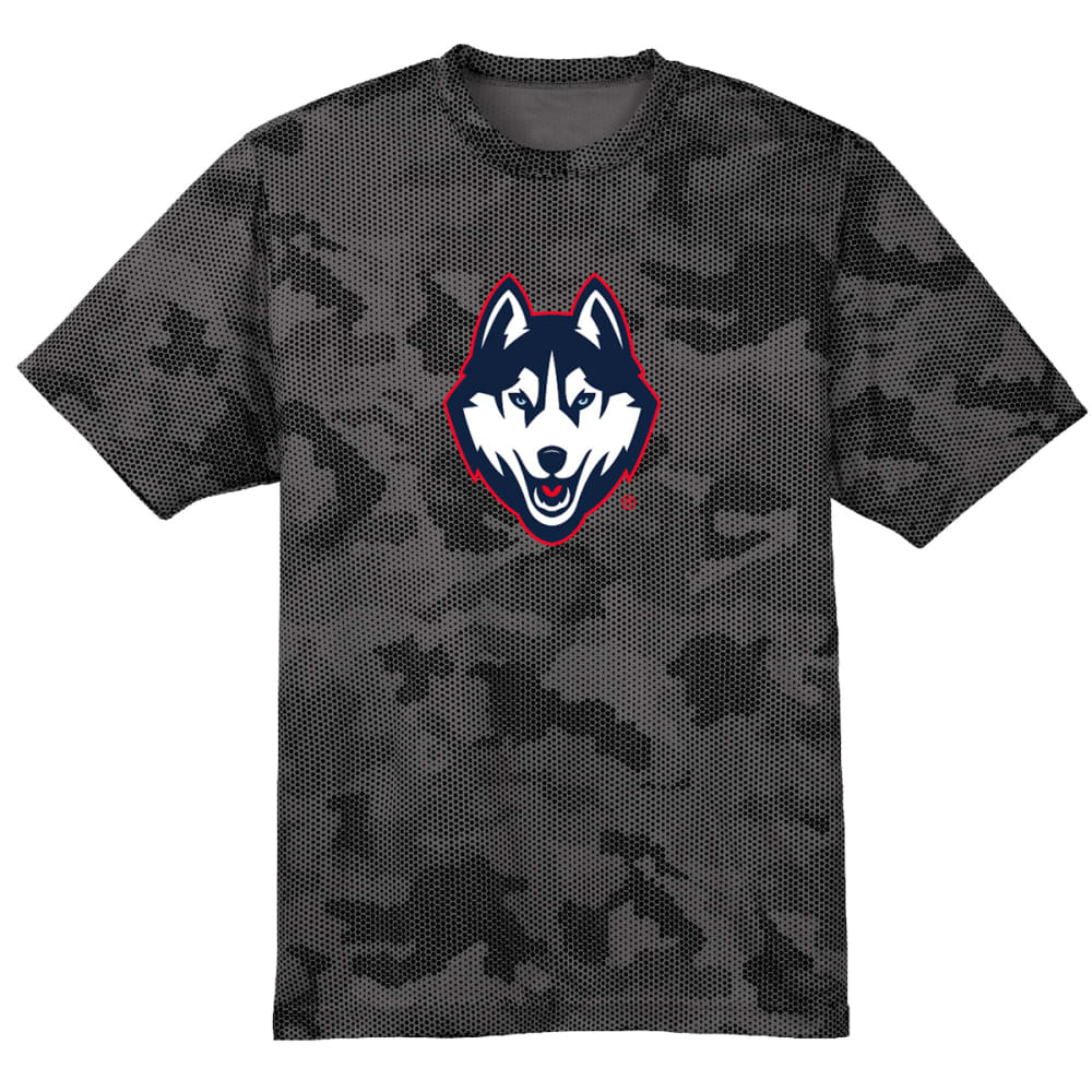 Uconn Men's Premium Performance Camohex Short-Sleeve Tee - Black, S