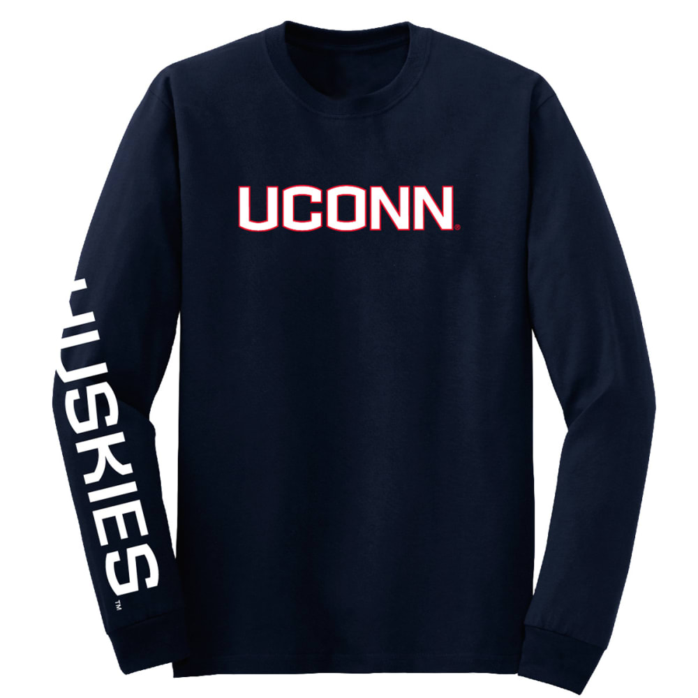 Uconn Men's 3 Hit Long-Sleeve Tee - Blue, L