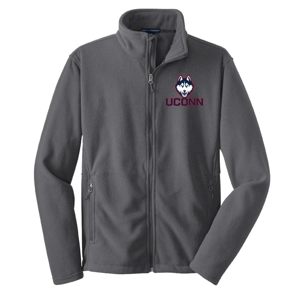UCONN Men's Logo Fleece Full-Zip Jacket - GREY