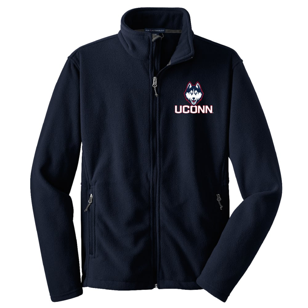 UCONN Men's Logo Fleece Full-Zip Jacket - NAVY