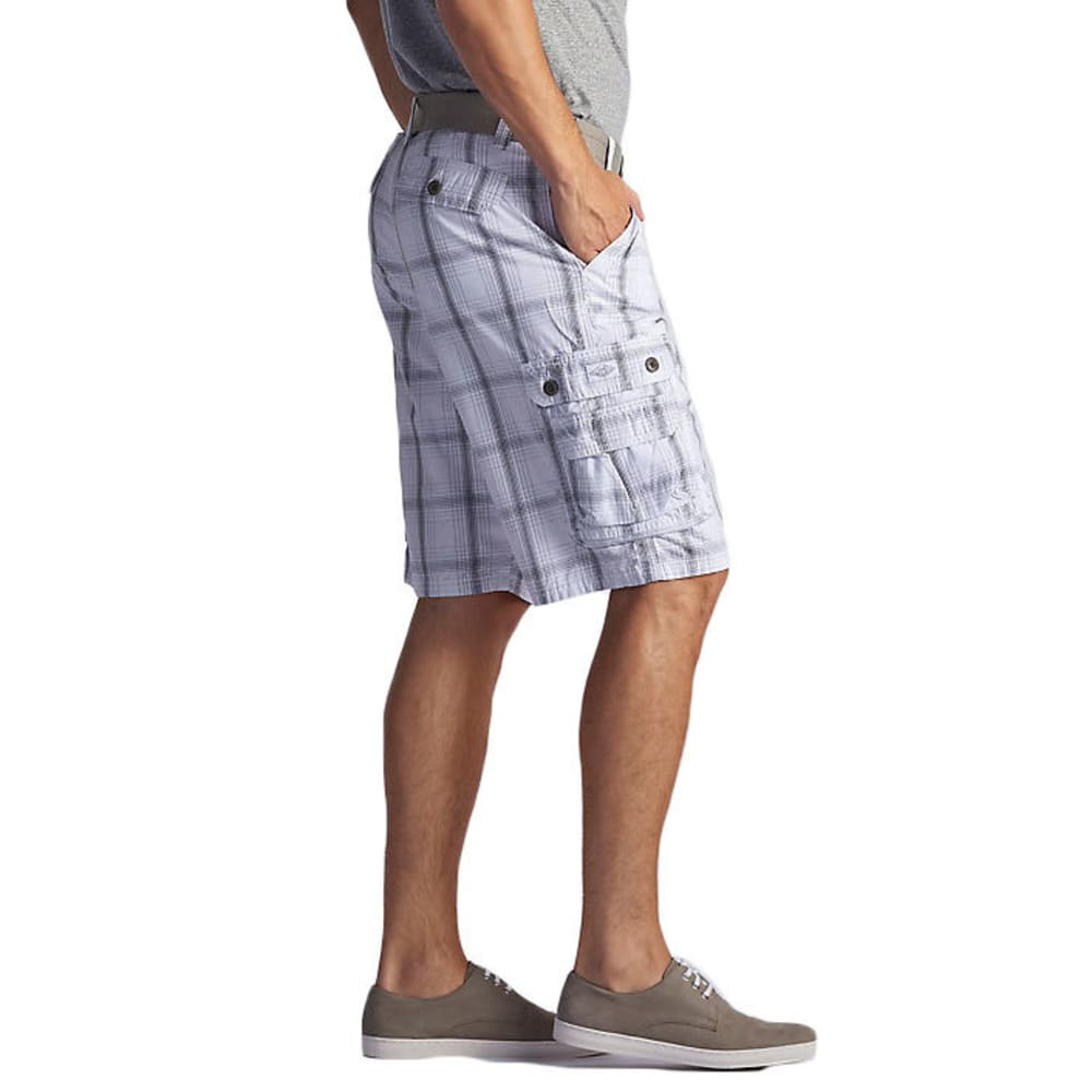 LEE Men's Wyoming Plaid Cargo Shorts - ALLOY OAK-3382