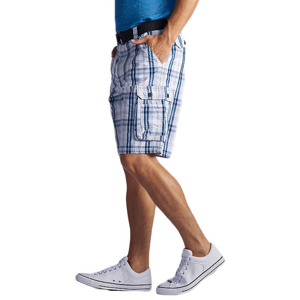 LEE Men's Wyoming Plaid Cargo Shorts - BLUE CONNER-3352