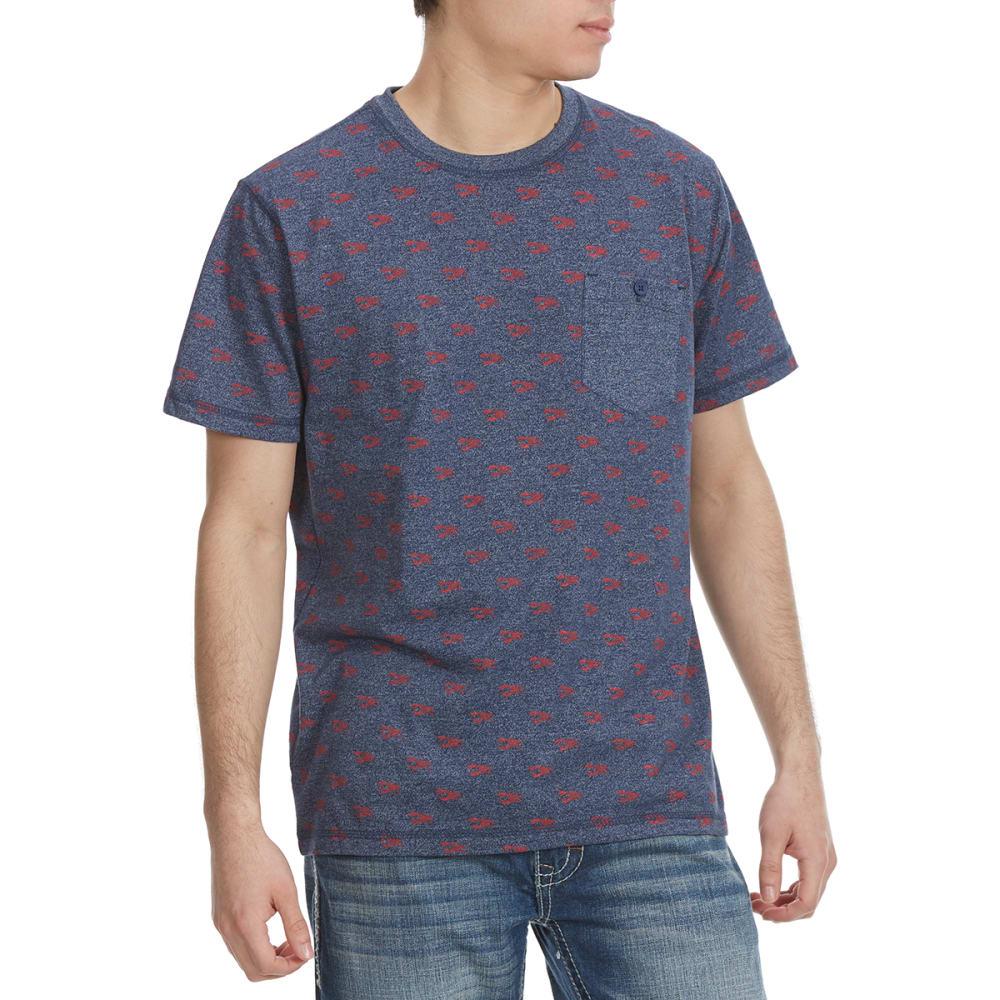 ALPHA BETA Guys' Printed Short-Sleeve Tee - LOBSTER-JP640