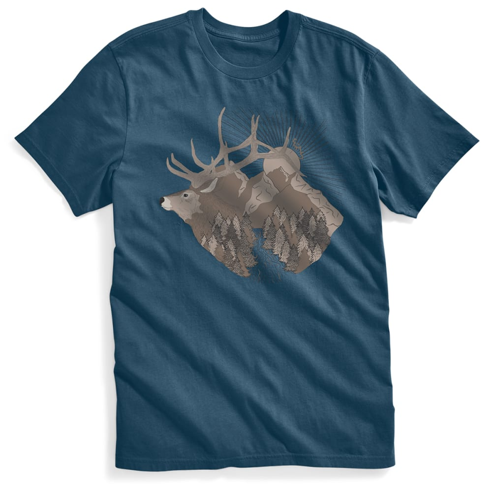 EMS Men's Wapiti Redux Graphic Tee - BLUE WING TEAL