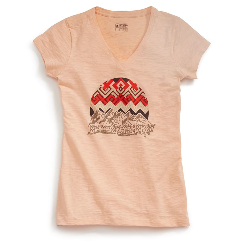 Ems(R) Women's Fire Woven Sky Graphic Tee - Orange, XS