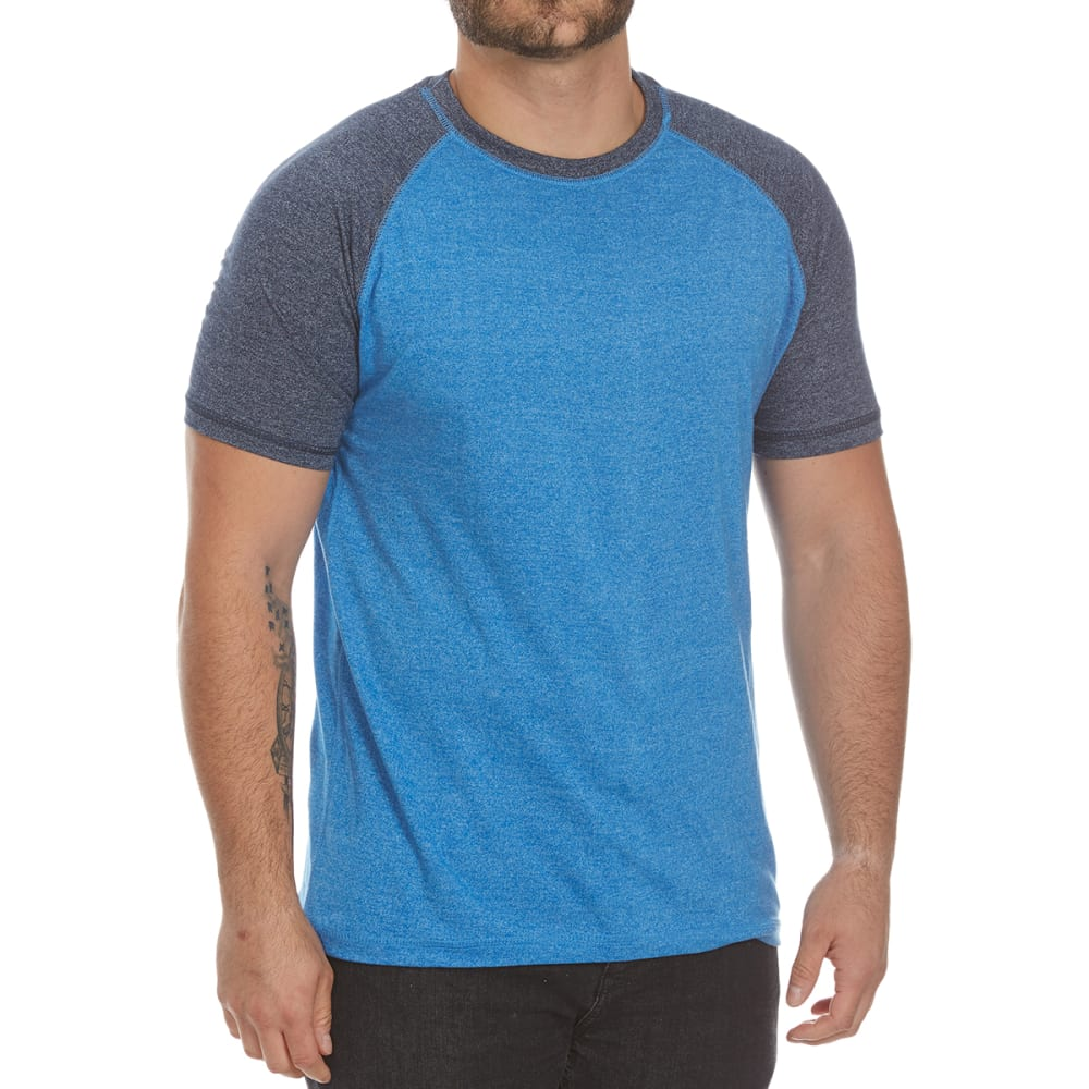 Alpha Beta Guys Baseball Crew Short-Sleeve Tee - Blue, S