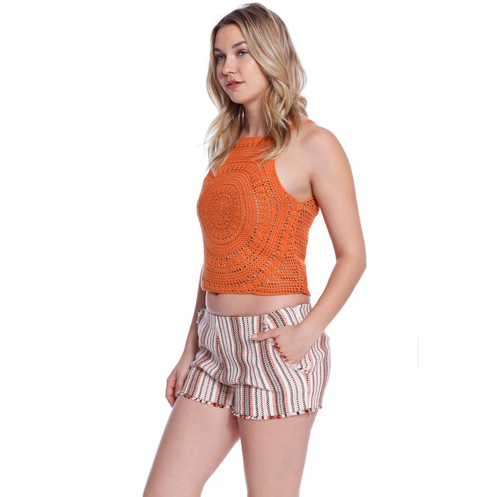TAYLOR & SAGE Juniors' Embroidered Sweater Tank Top - SPF-SPICE FLOWER