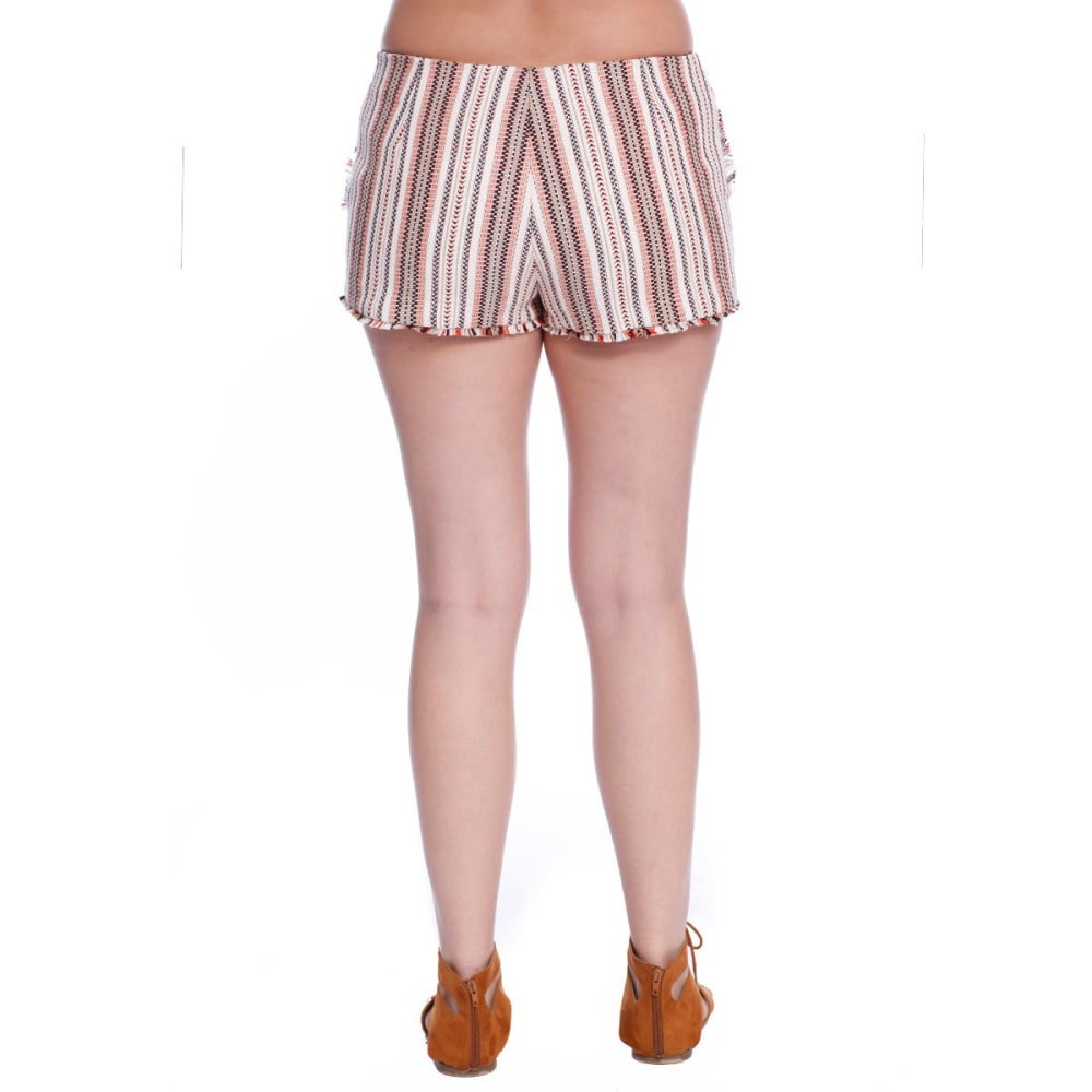 TAYLOR & SAGE Juniors' Stripe Shorts - NAT - NATURAL
