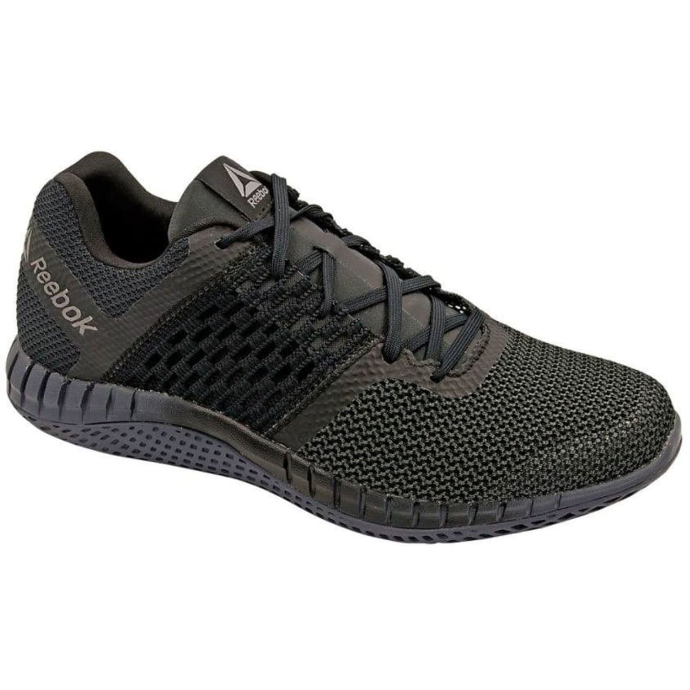 REEBOK Men's ZPrint Run Running Shoes, Black/Ash Grey/Pewter - BLACK