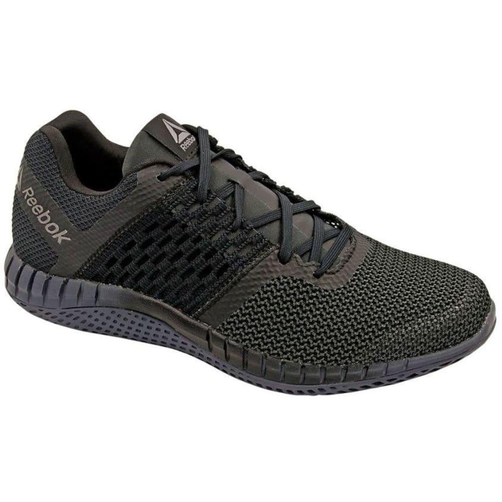 REEBOK Men's ZPrint Run Running Shoes, Black/Ash Grey/Pewter - BLACK