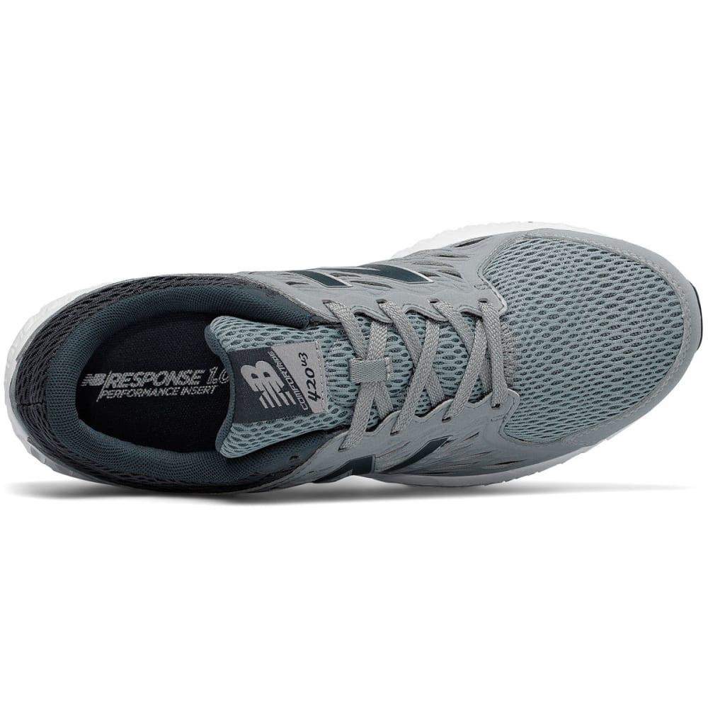 NEW BALANCE Men's 420 Runner Running Shoes, Silver, Wide - SILVER