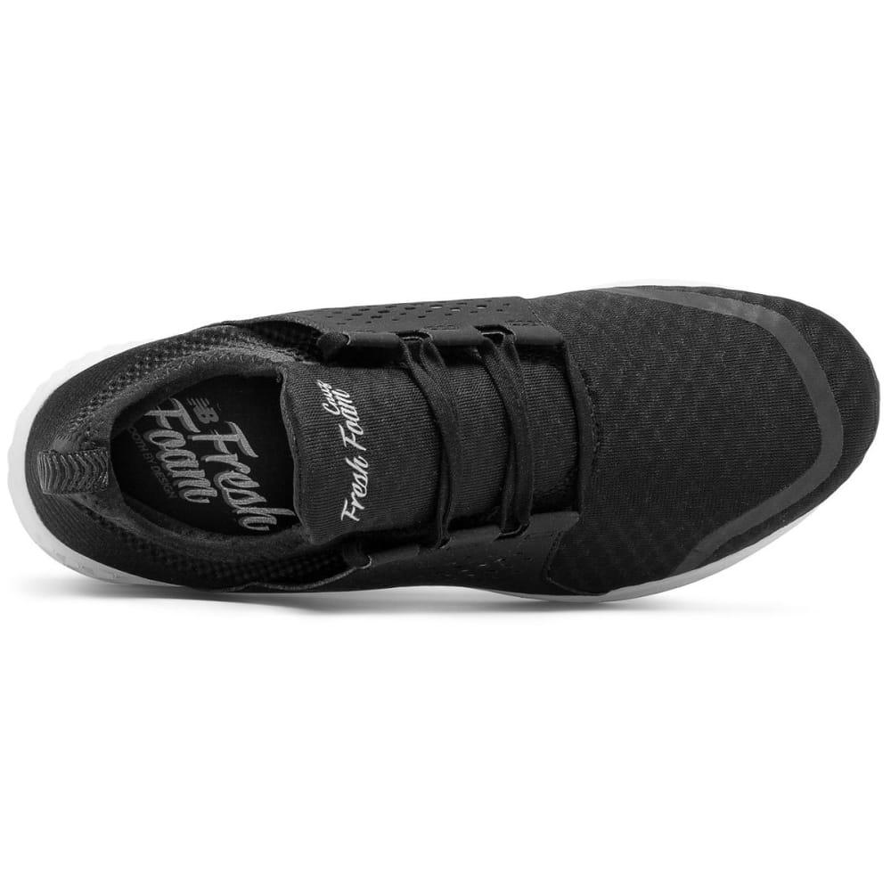 NEW BALANCE Men's Fresh Foam Cruz V1 Running Shoes, Black/White - BLACK