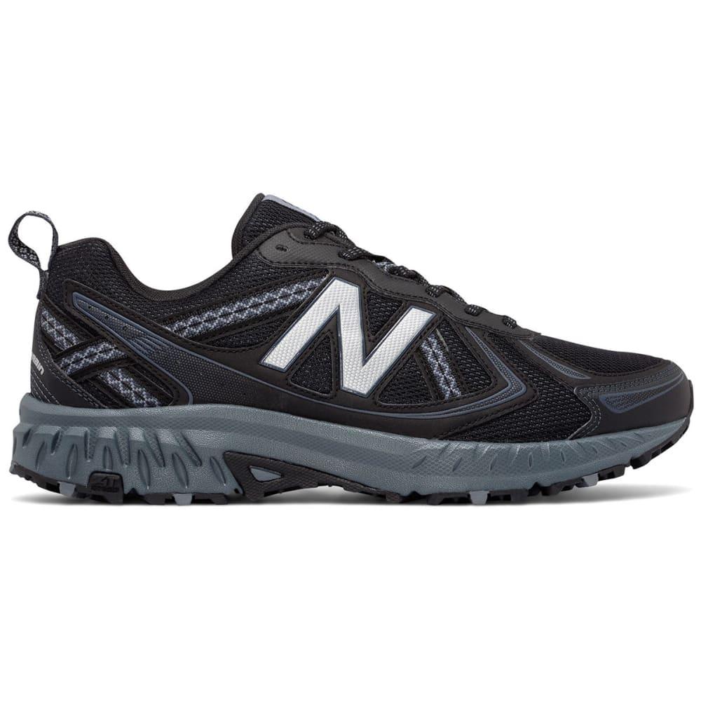 New Balance Men's 410V5 Trail Running Shoes, Black/thunder, Wide