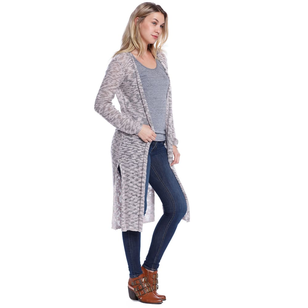 TAYLOR & SAGE Juniors' Knitted Duster Cardigan - DUS-DUSTED PINK