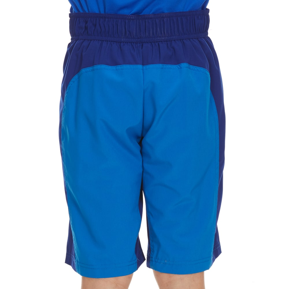 FREE COUNTRY Boys' Solid Color-Block Four-Way Stretch Boardshorts - ELECTRIC BLUE/BLUEWV