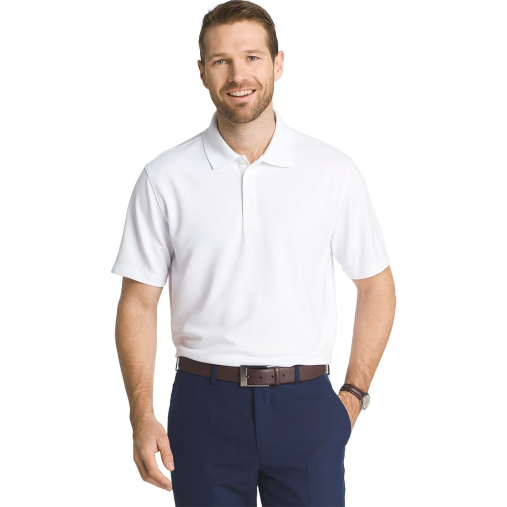 VAN HEUSEN Men's Traveler Ottoman Pique Polo Shirt - BRIGHT WHT-110