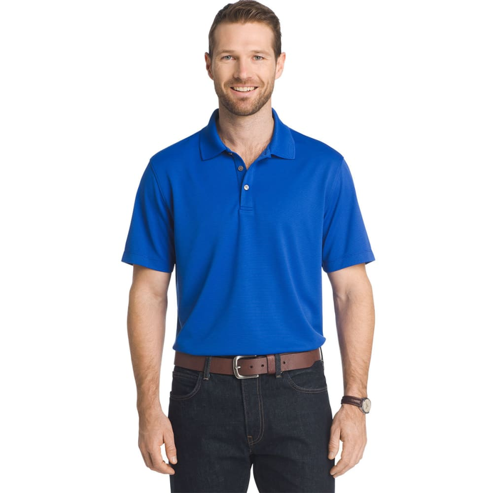 VAN HEUSEN Men's Traveler Ottoman Pique Polo Shirt - BLU GRECIAN-453