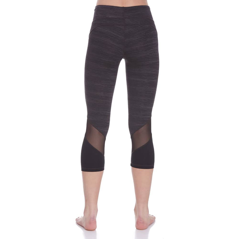 MARIKA Women's Balance Collection Sanded Dry Wik Geneva Shape-Enhancing Capri Leggings - BLACK-001