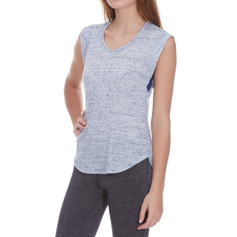 MARIKA Women's Balance Collection Lotus Sleeveless Tee - MEDIEVAL BLUE-4B4