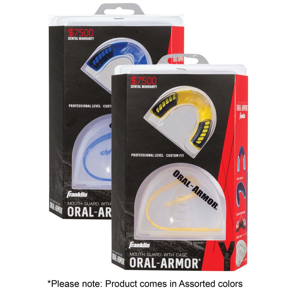 FRANKLIN Adult Oral Armor 3D Tri-Density Mouth Guard - NO COLOR