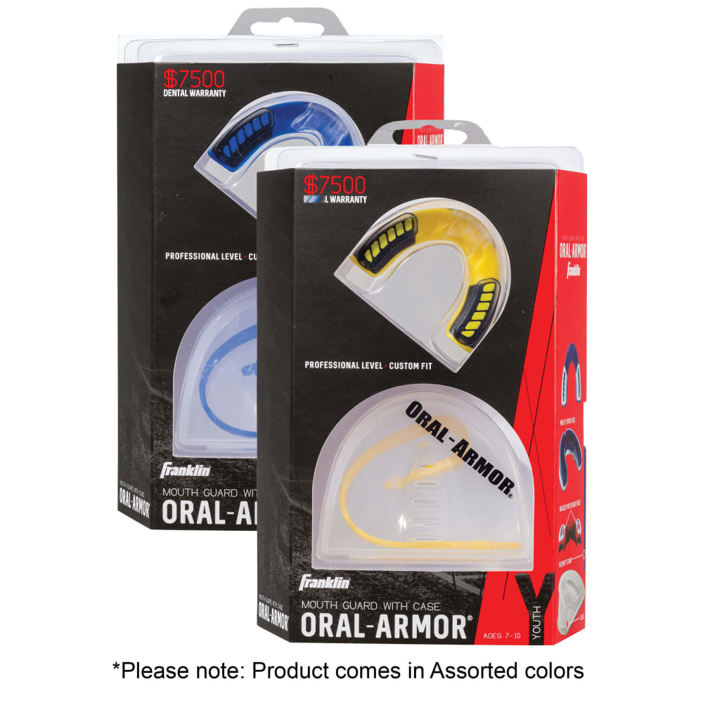 FRANKLIN Youth Oral Armor 3D Tri-Density Mouth Guard - NO COLOR