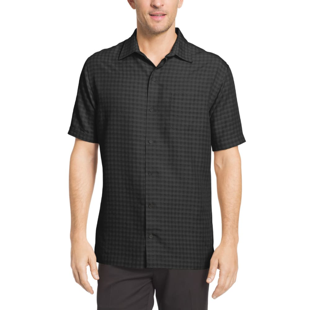 VAN HEUSEN Men's Printed Rayon Short-Sleeve Shirt - GRY CUMULUS-081