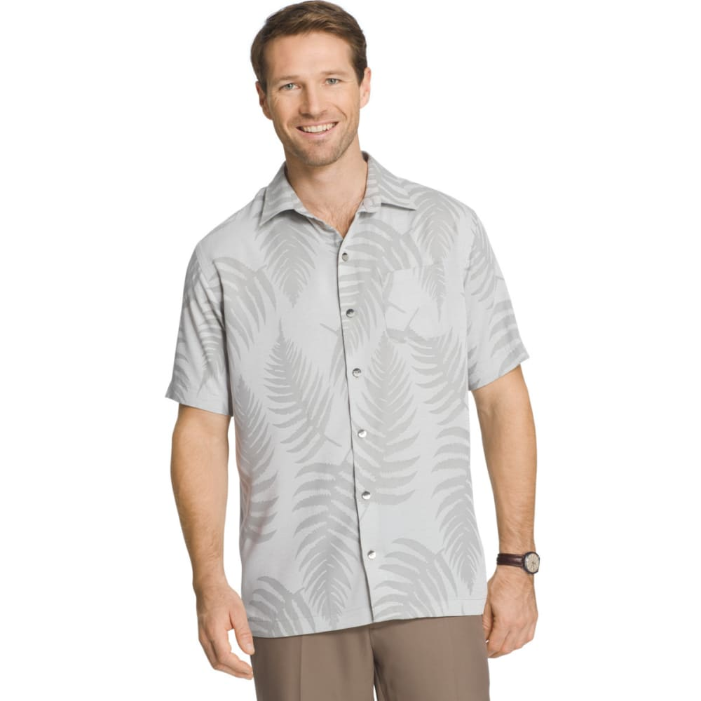 VAN HEUSEN Men's Jacquard Woven Short-Sleeve Shirt - GRY DAWN BLUE-020