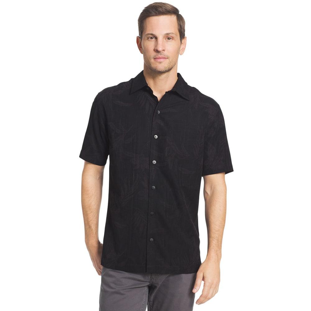 VAN HEUSEN Men's Oasis Printed Short-Sleeve Shirt - BLACK-001