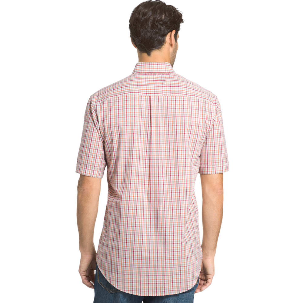 ARROW Men's Hamilton Plaid Short-Sleeve Shirt - CHINCHILLA-260