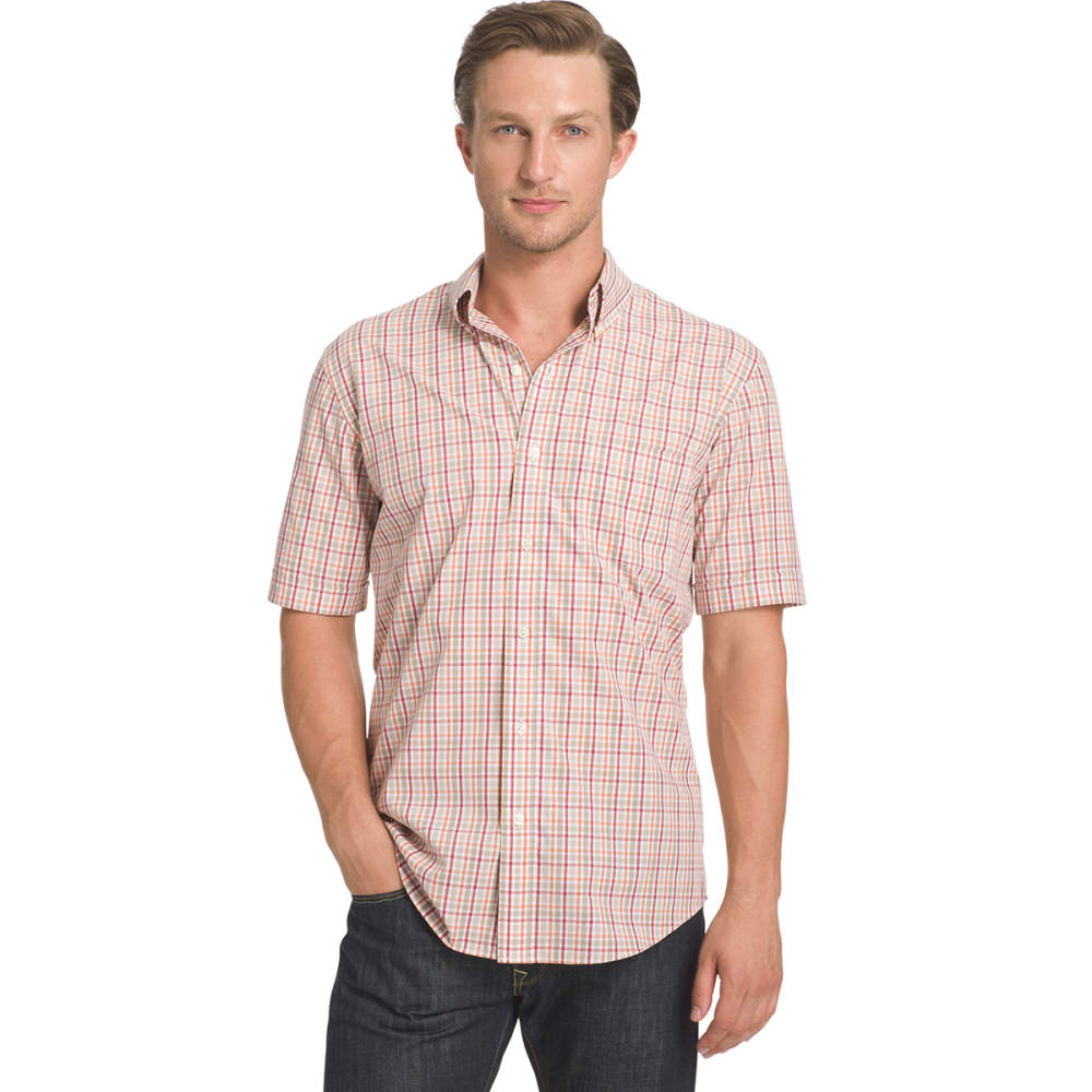 Arrow Men's Hamilton Plaid Short-Sleeve Shirt - Brown, M