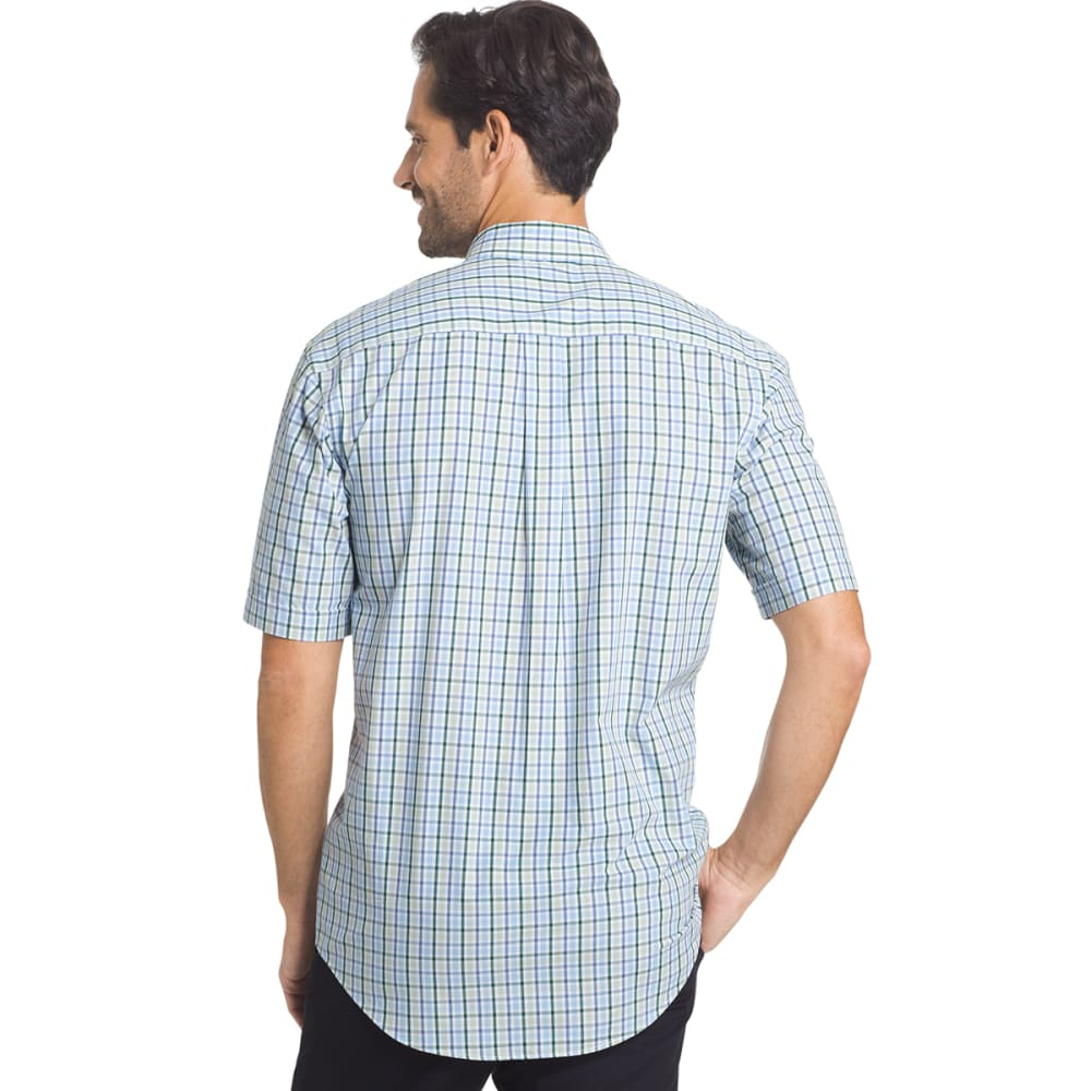 ARROW Men's Hamilton Plaid Short-Sleeve Shirt - SMOKE GRN-366