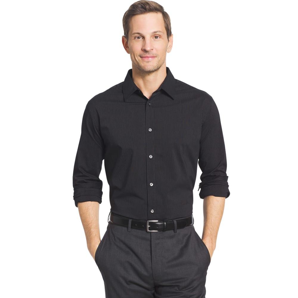 VAN HEUSEN Men's Traveler Long Sleeve Woven Shirt - BLACK-001