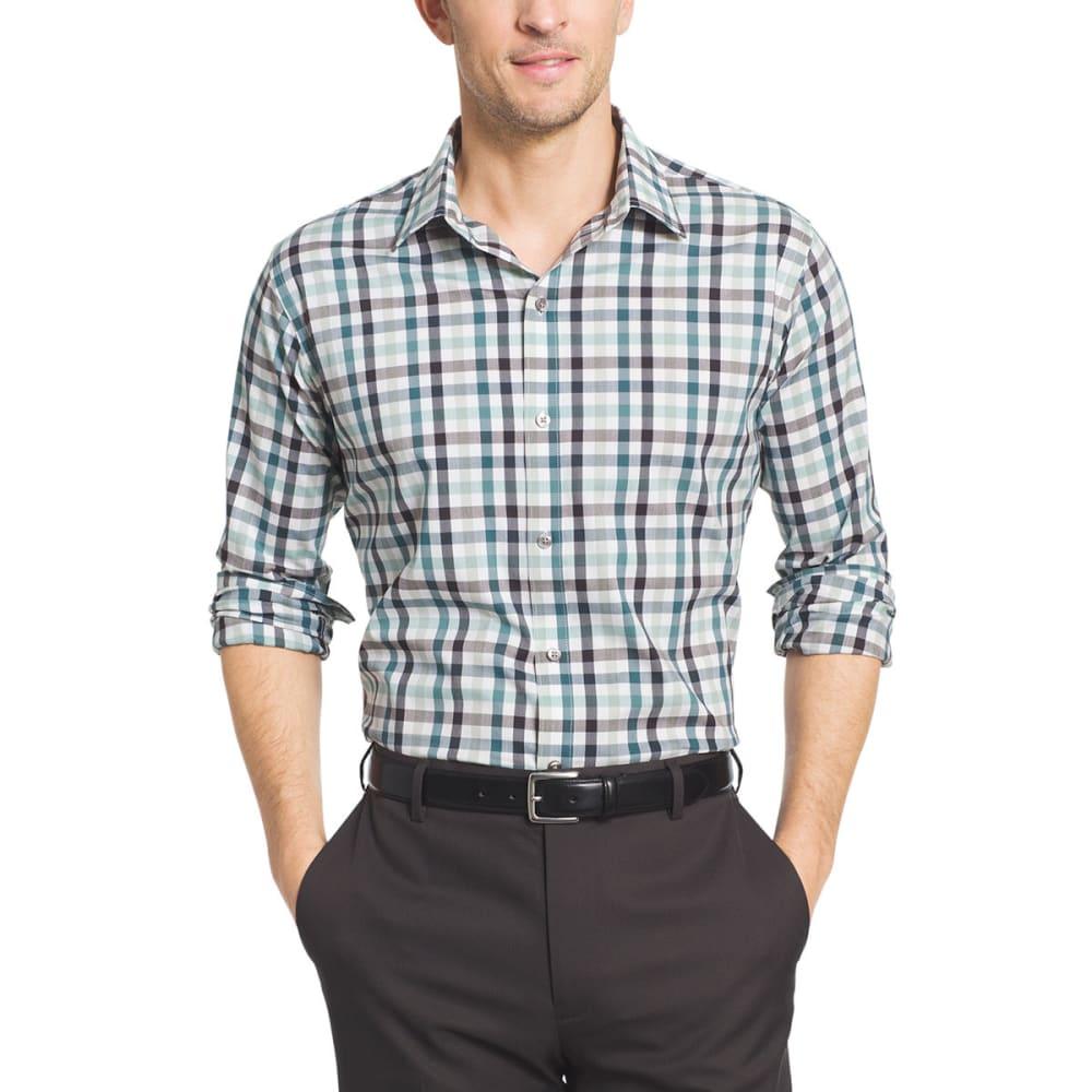 VAN HEUSEN Men's Flex Woven Long-Sleeve Shirt - GRN AQUA GRY-302