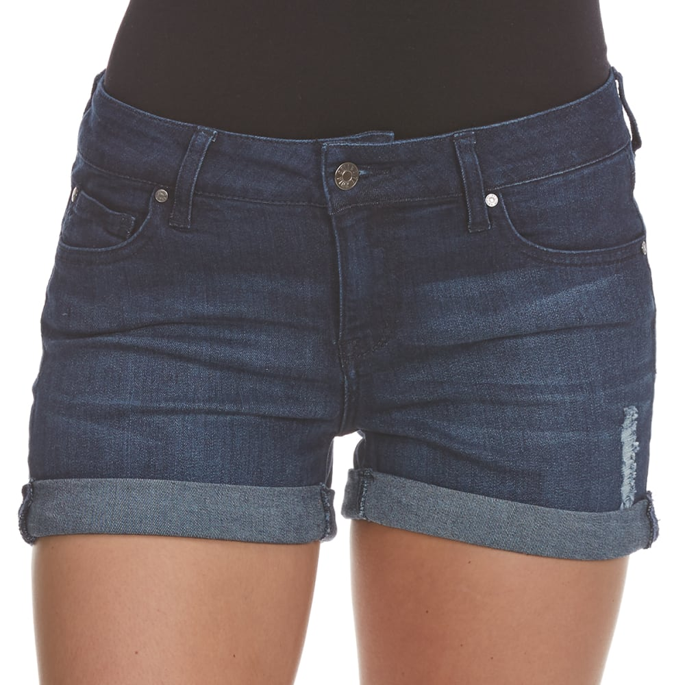CELEBRITY PINK Juniors' 3 in. Roll-Up Cuff Shorts - FRASER