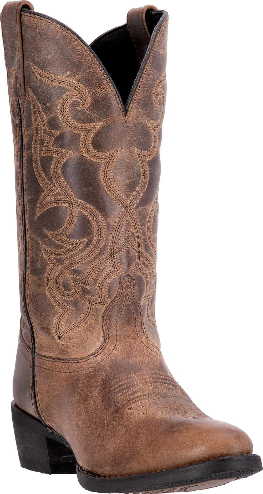 LAREDO Women's Maddie Cowboy Boots, Tan, Wide Sizes - TAN