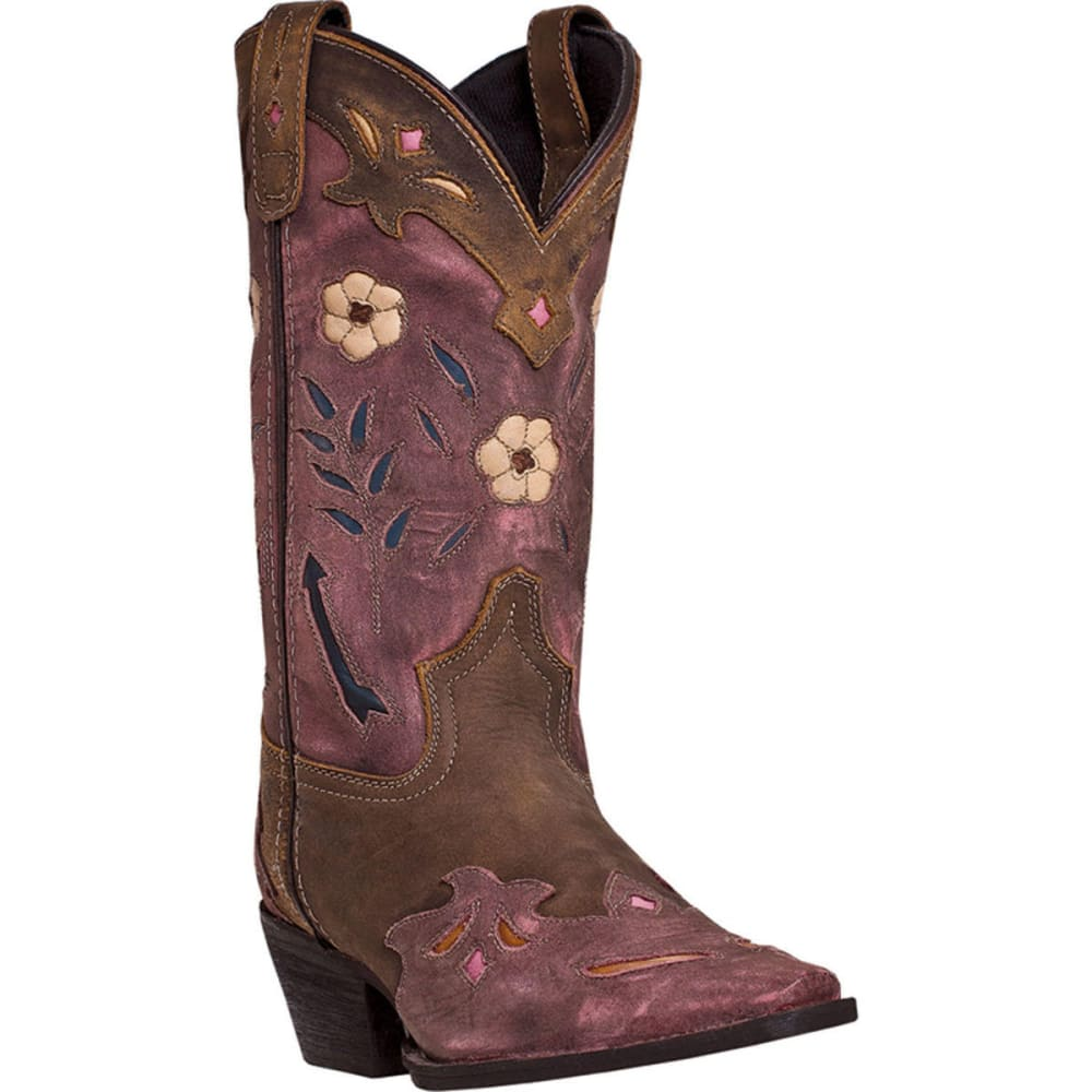 LAREDO Women's Miss Kate Cowboy Boots, Brown/Pink - TAN/PINK