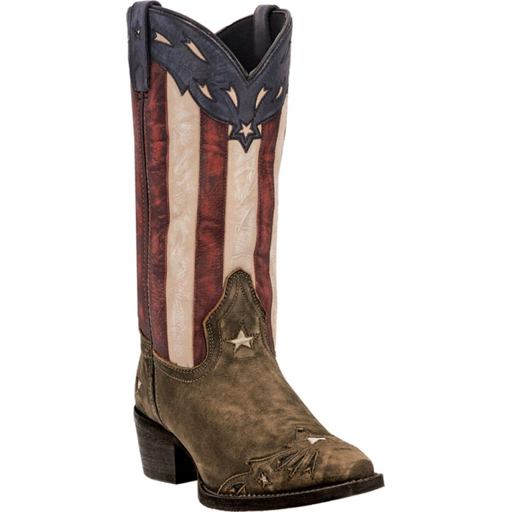 LAREDO Women's Keyes Cowboy Boots, Tan/Multicolored - TAN-MULTI