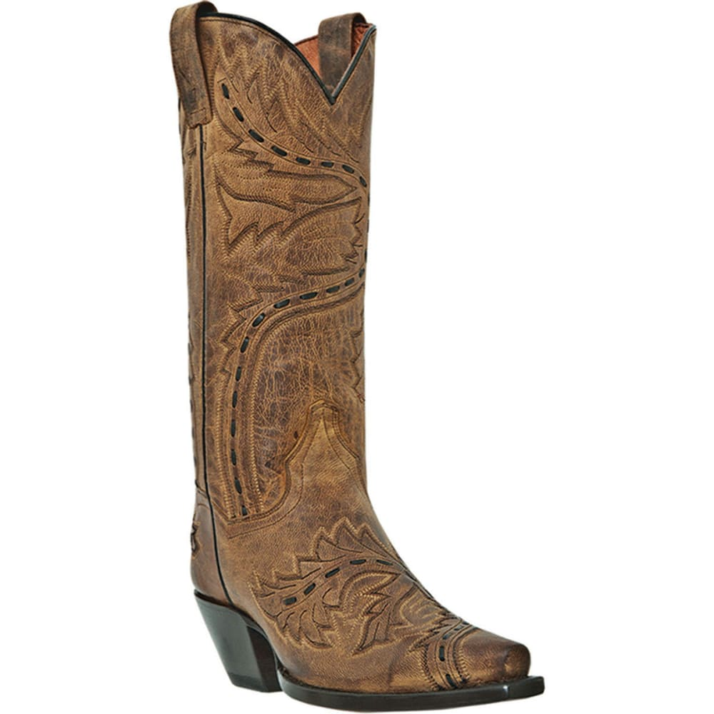 DAN POST Women's Sidewinder Cowboy Boots, Tan - TAN MAD CAT