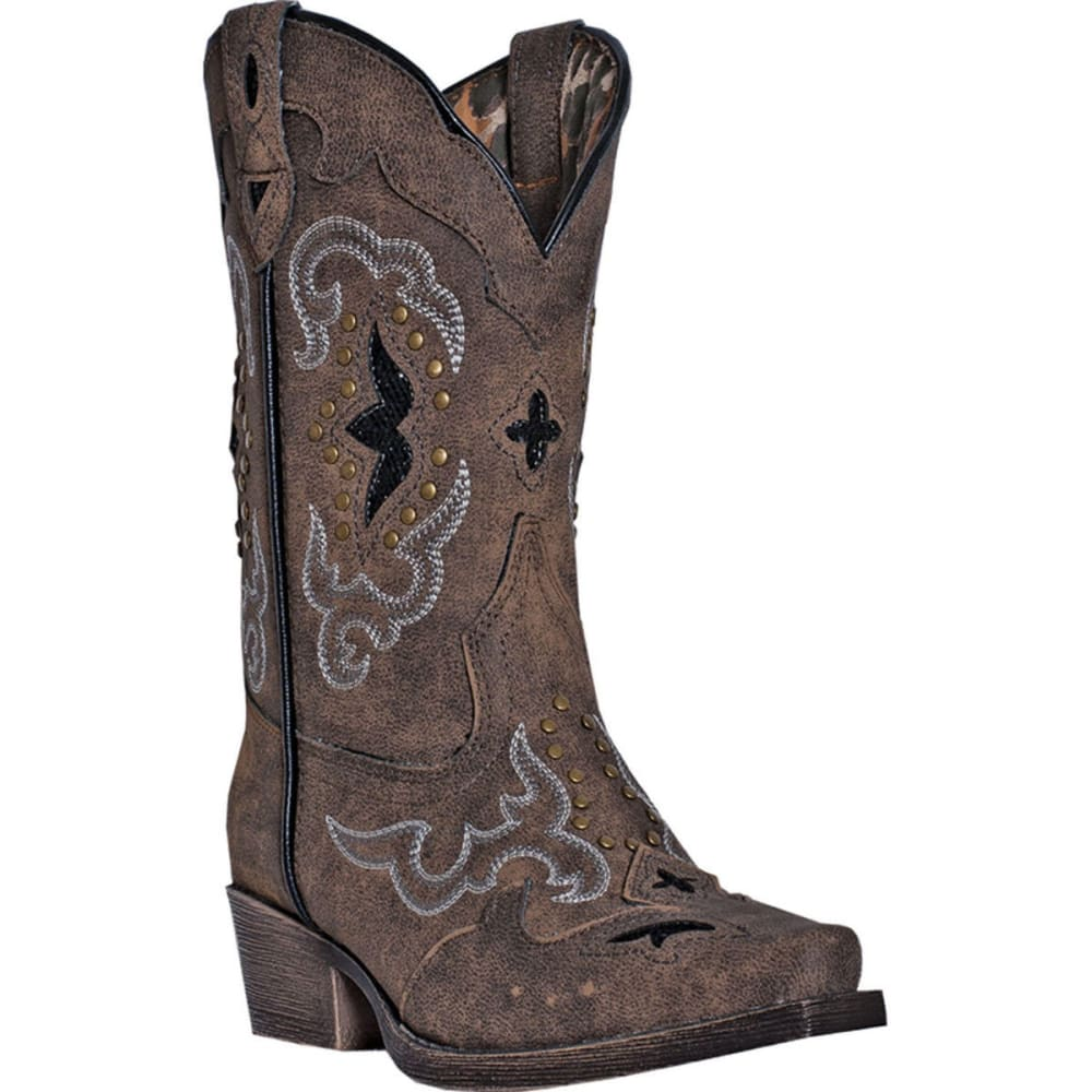 LAREDO Girl's Rulay Cowgirl Boots, Sanded Brown - SANDED BROWN
