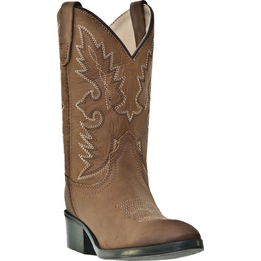 DAN POST Boys' Shane Boots size 8.5-3, Tan Distressed - TAN DISTRESSED