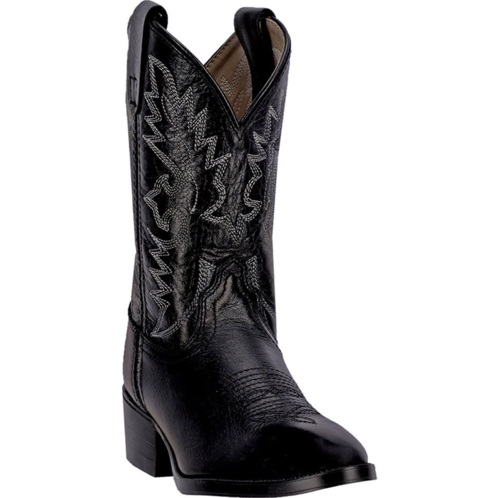 DAN POST Boys' Chaps Boots Size 3.5-6, Black - BLACK