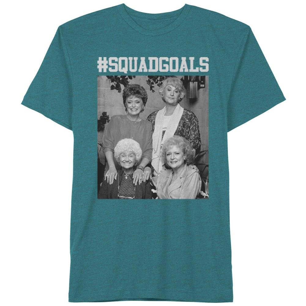 HYBRID Guys' Golden Girls Squad Goals Short-Sleeve Tee - CYAN BLK HTR
