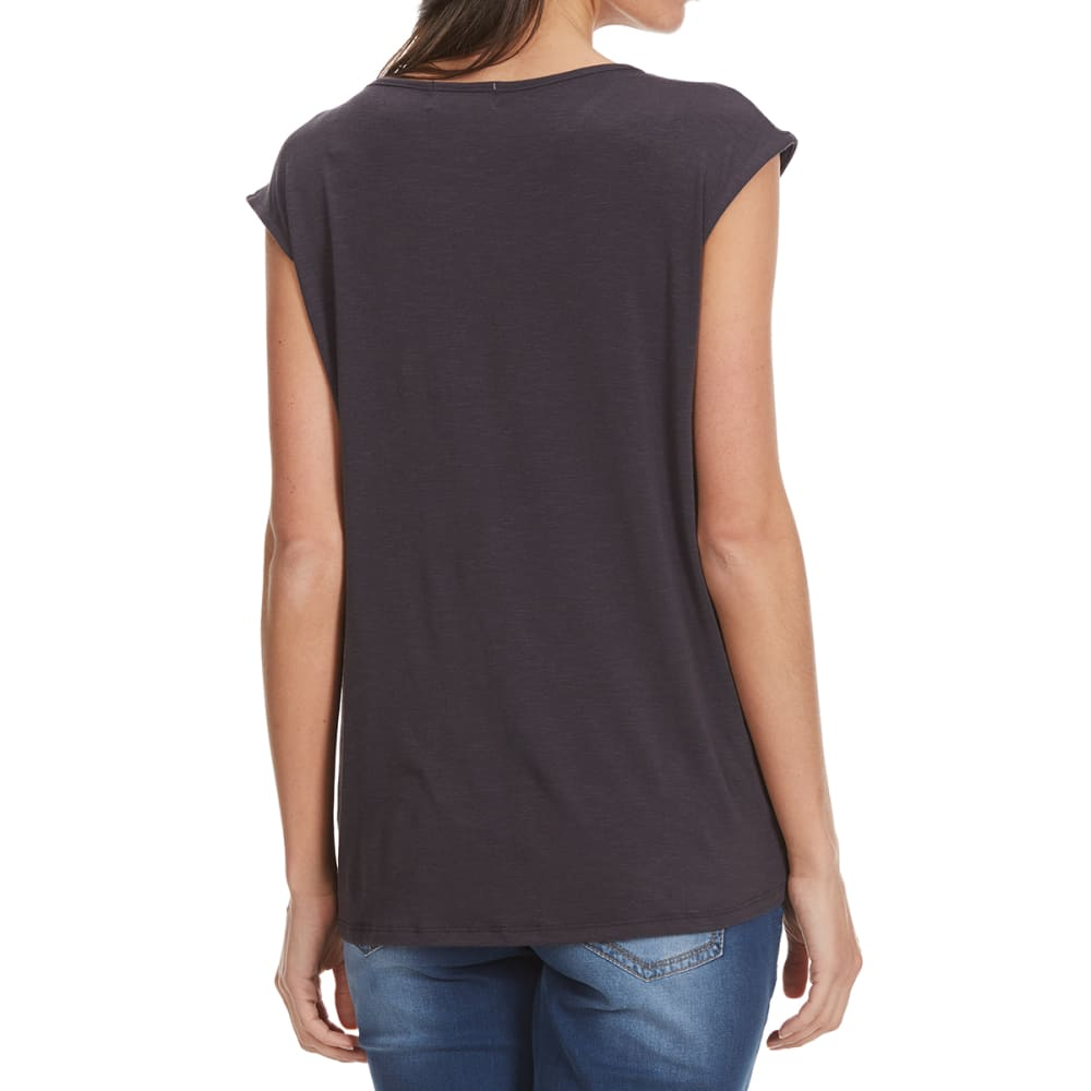 THYME & HONEY Women's Embroidered Sleeveless Top - GREY MOON