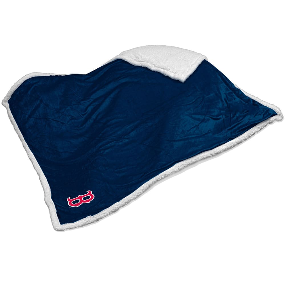 BOSTON RED SOX Sherpa Throw Blanket - NAVY