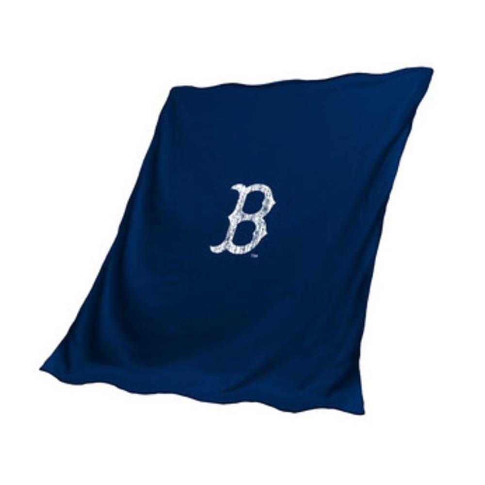 BOSTON RED SOX Sweatshirt Throw Blanket - NAVY