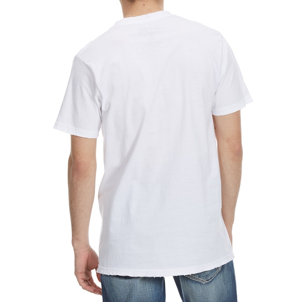 HYBRID Guys' AC/DC Rock Distressed Short-Sleeve Tee - WHITE